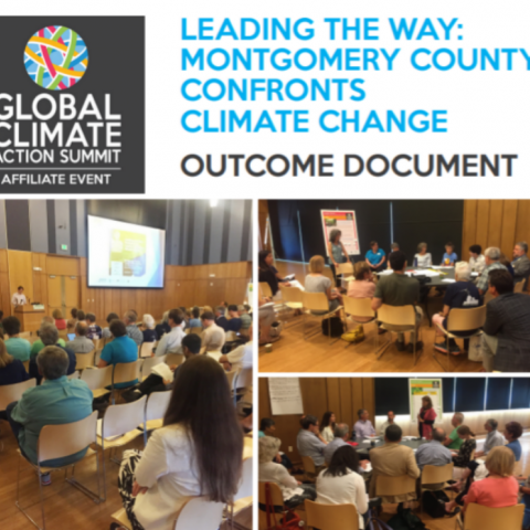 Leading the Way: Montgomery County Confronts Climate Change outcome document